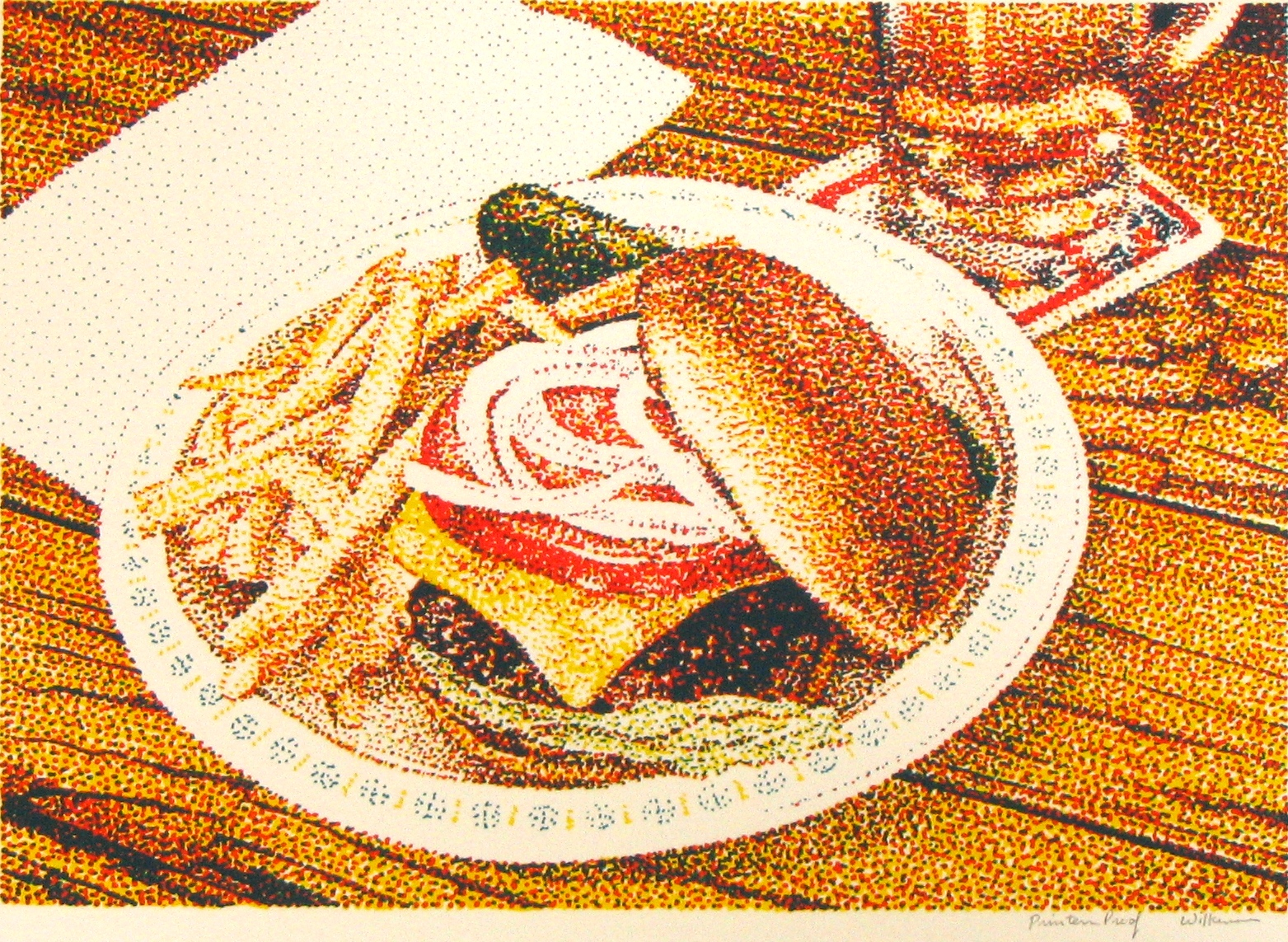 Jerry Wilkerson Art - Pointillism - inspired by food