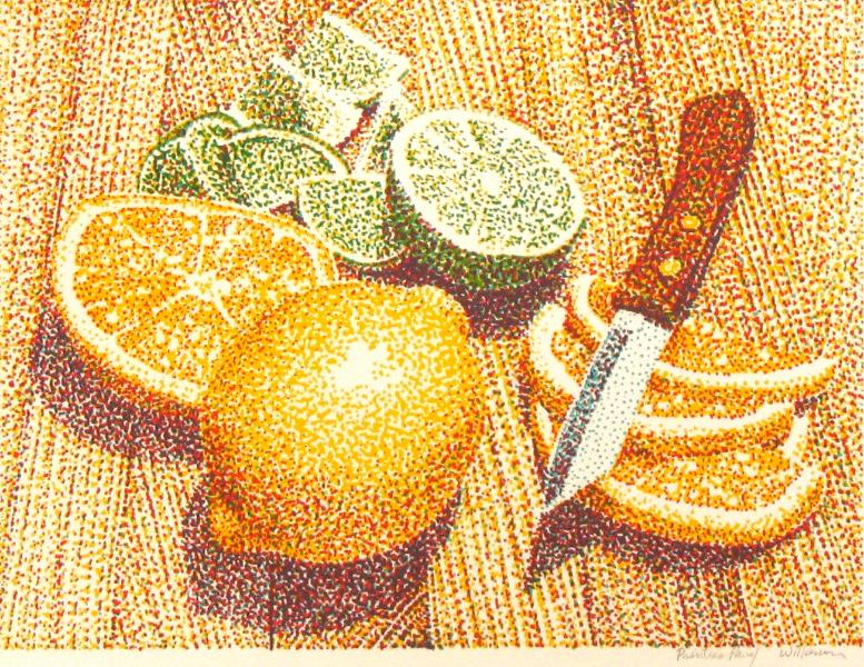 Jerry Wilkerson Art - Pointillism - food art