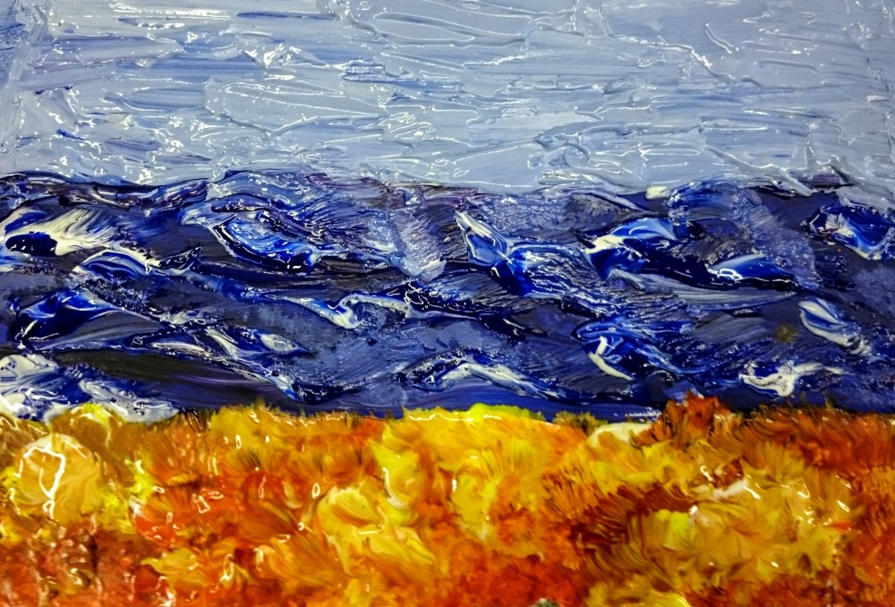 Acrylic impasto technique various