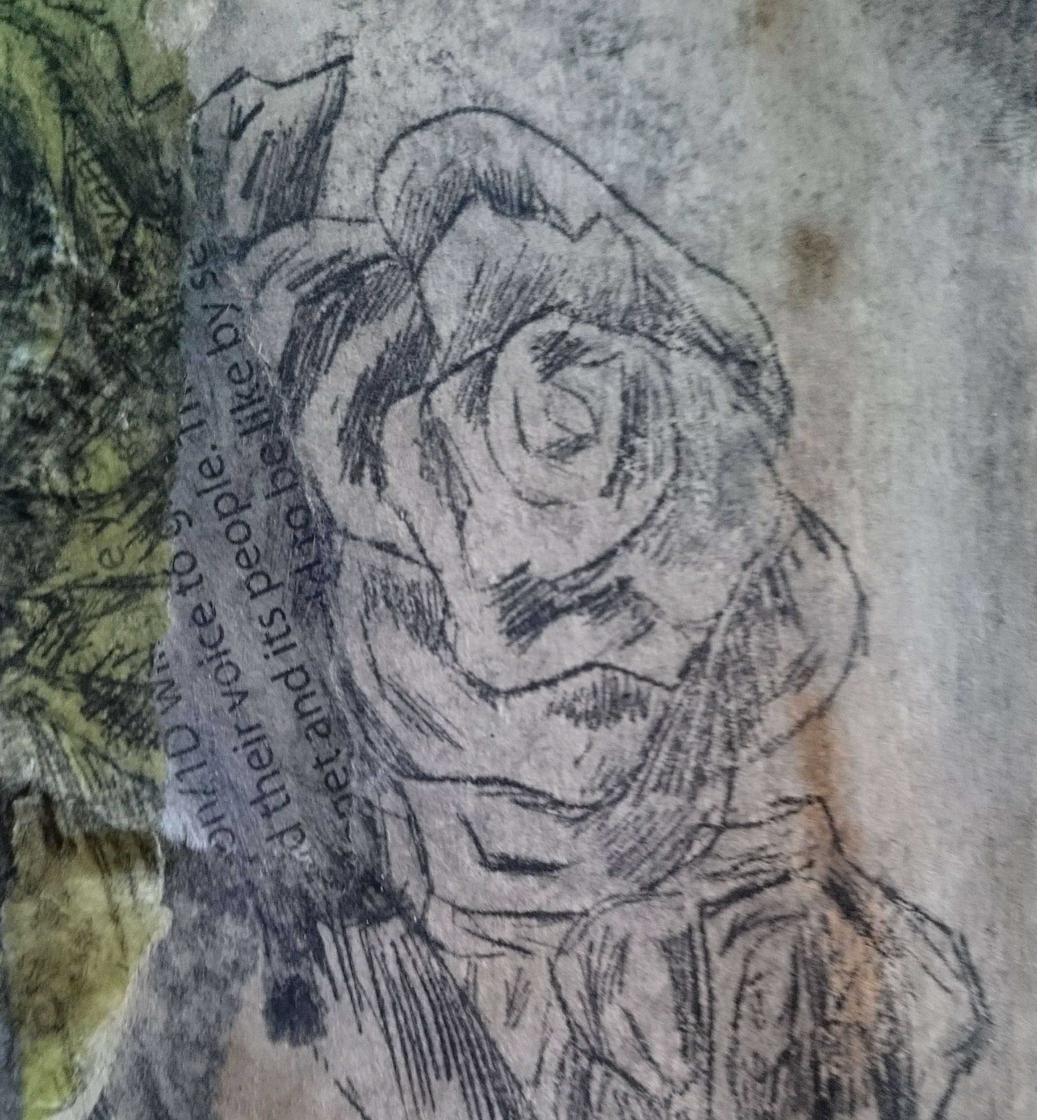 Intaglio print details