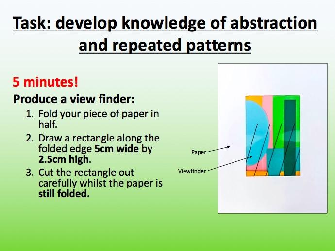 Pattern design lesson resources