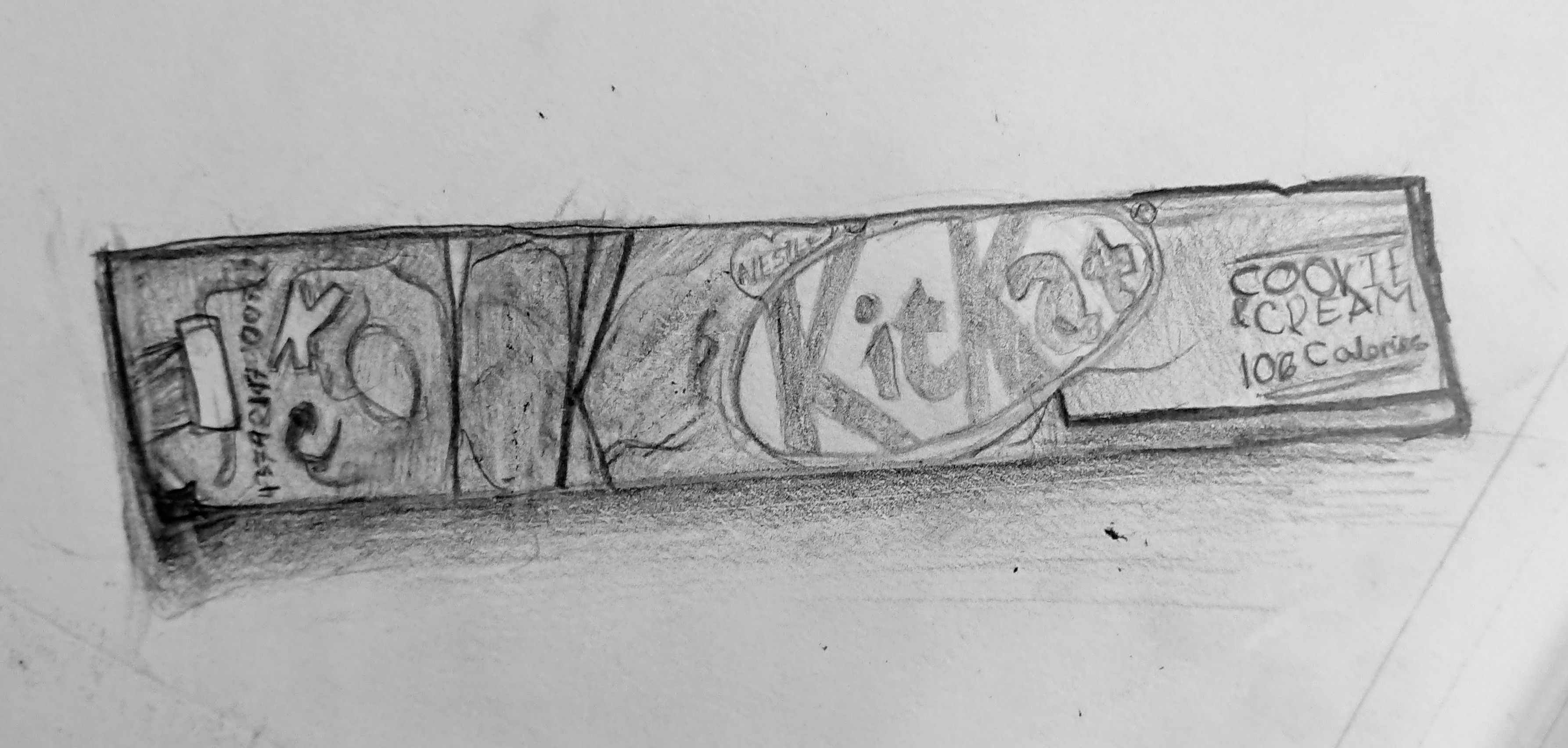 Pencil observational drawing wrapper