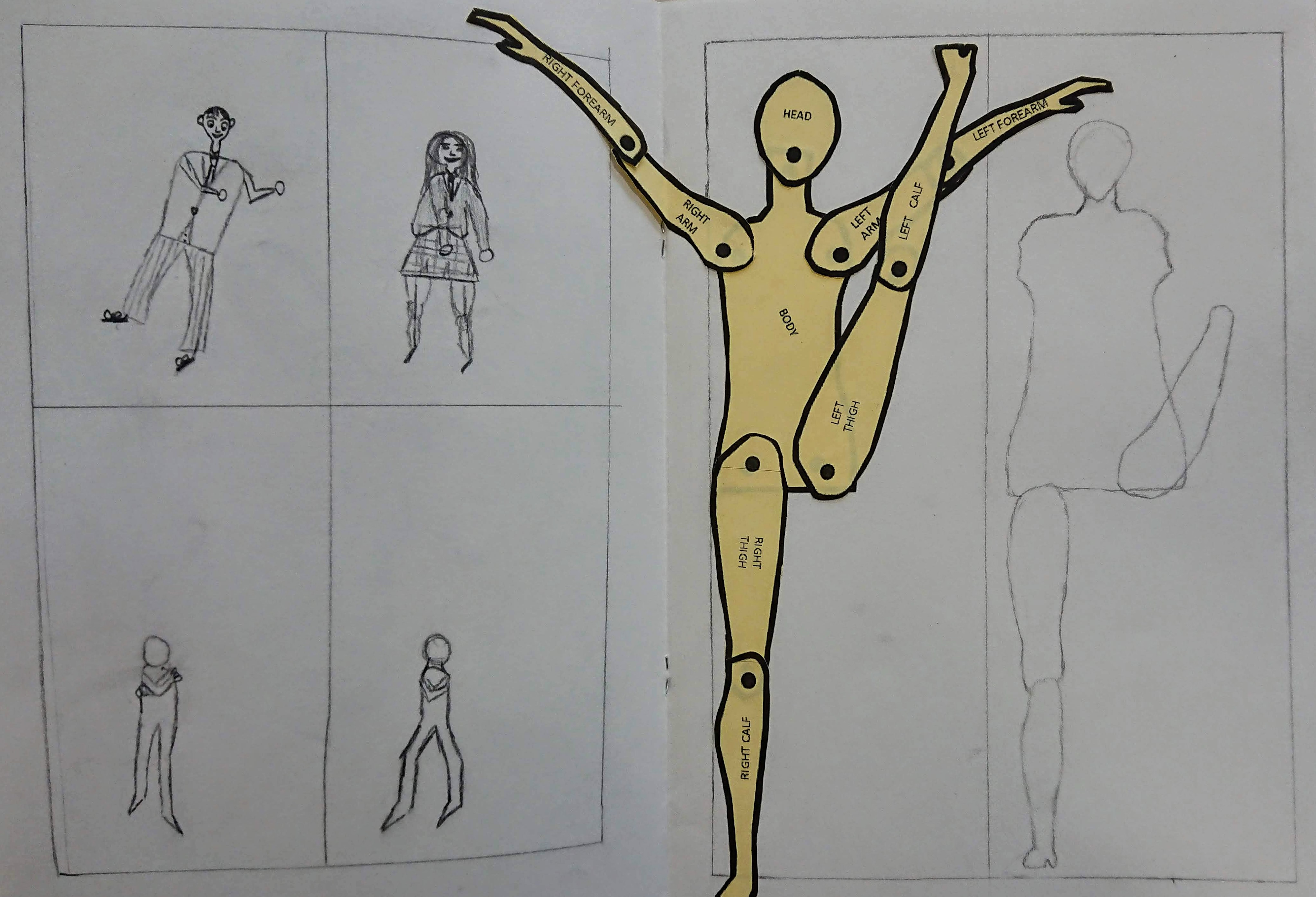 how to draw human figures art lesson
