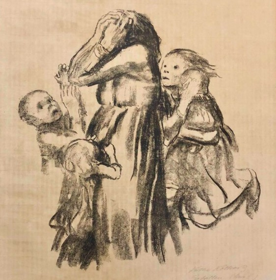 Käthe Kollwitz drawing people art lesson