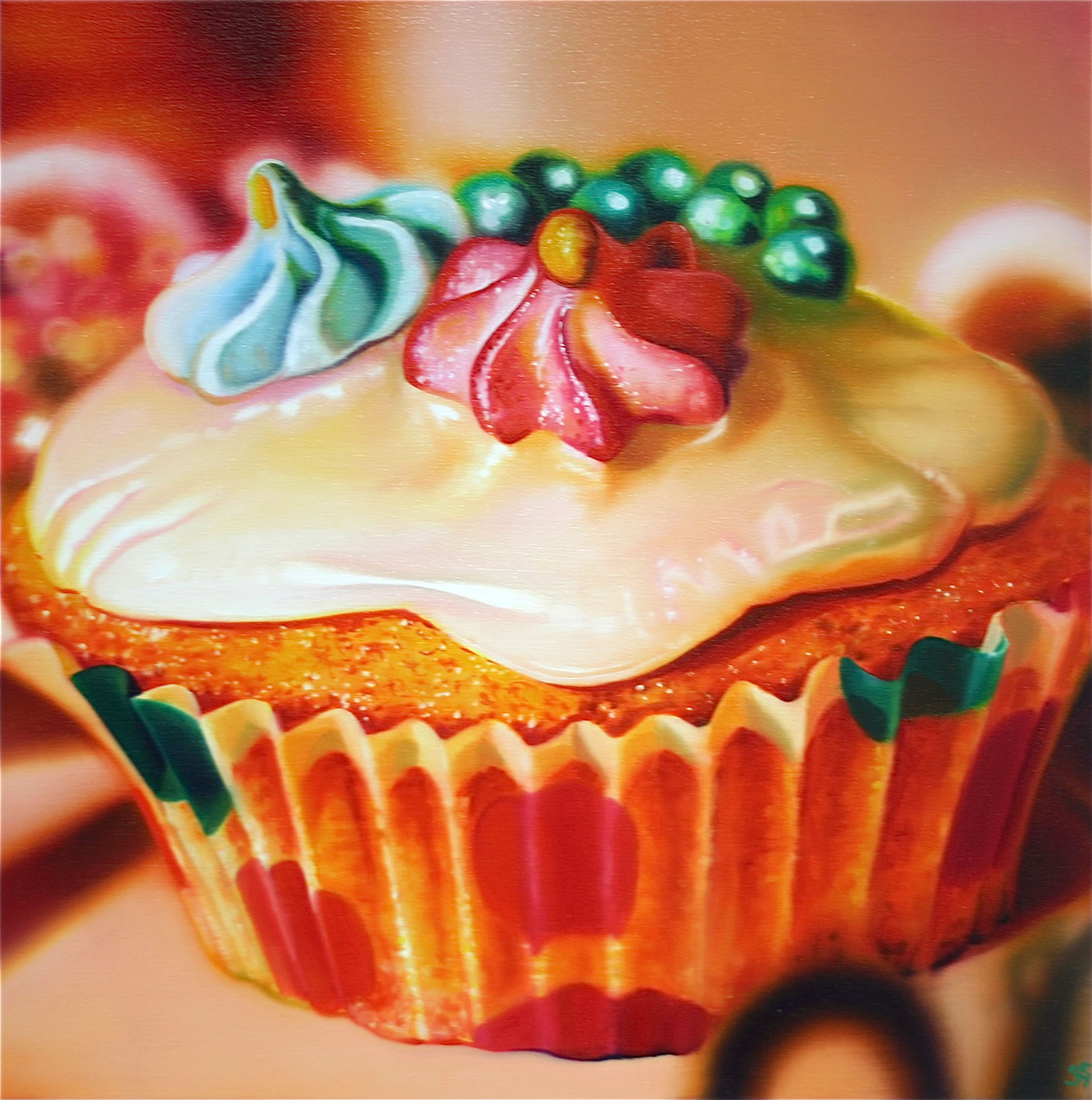 Sarah Graham painting - fairy cupcake