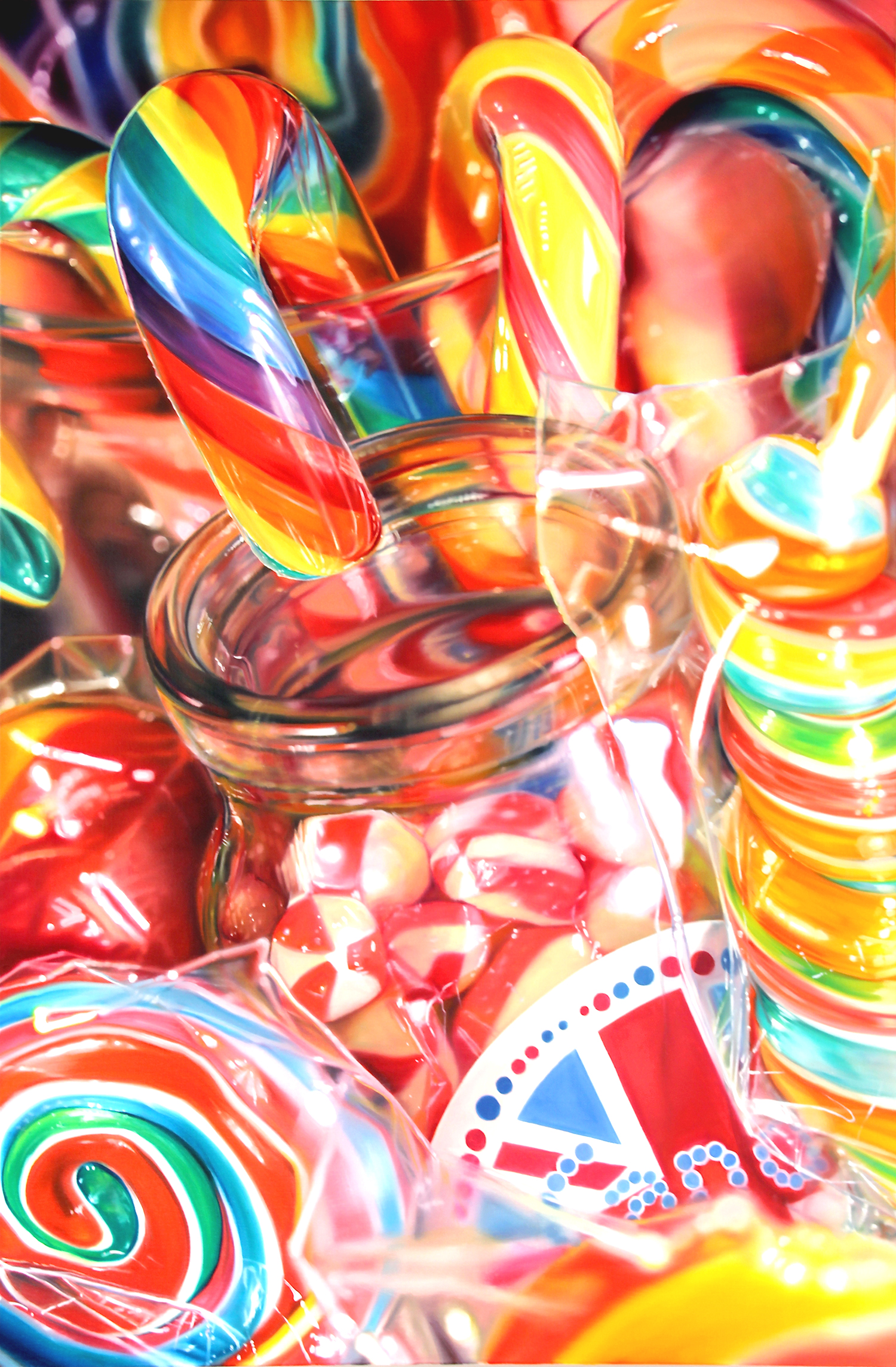 Sarah Graham painting - Candy Carnival