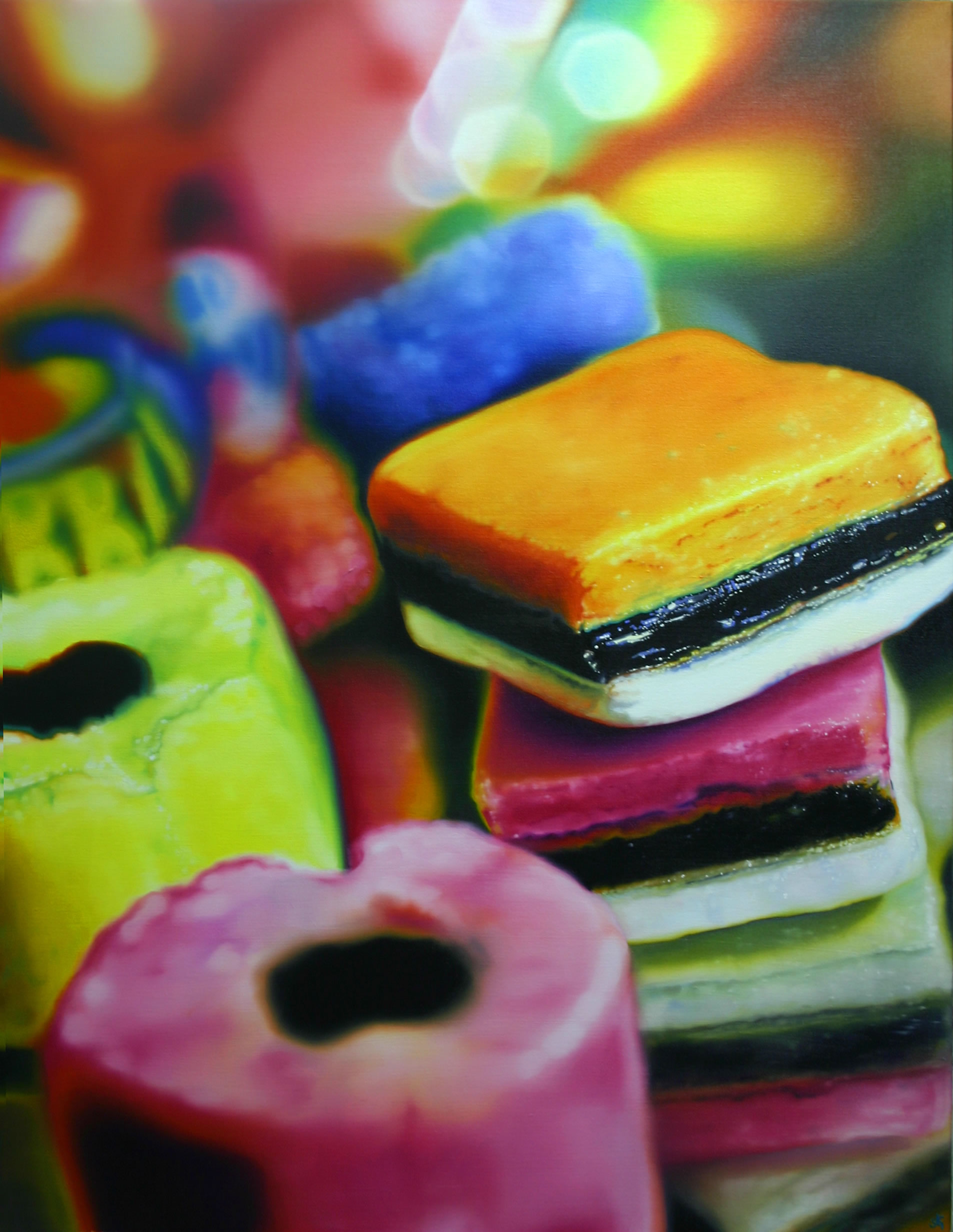 Sarah Graham painting - sweets for my sweet