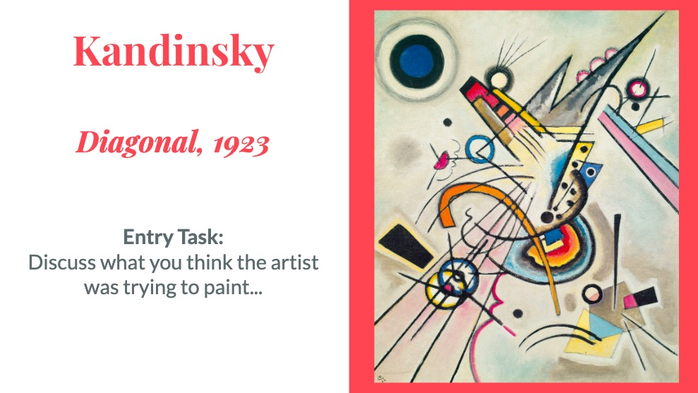 Kandinsky painting colour theory art project