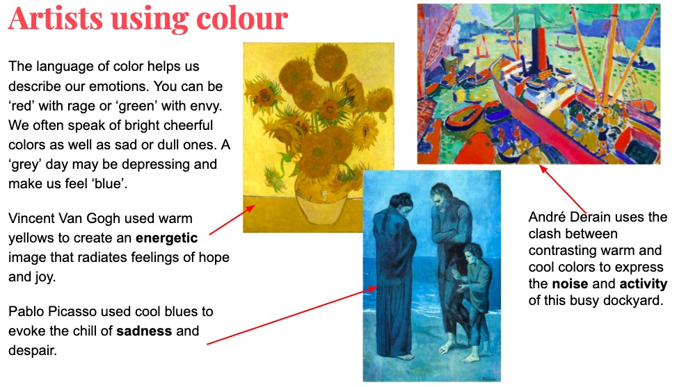 Colour theory project KS3 - artist research