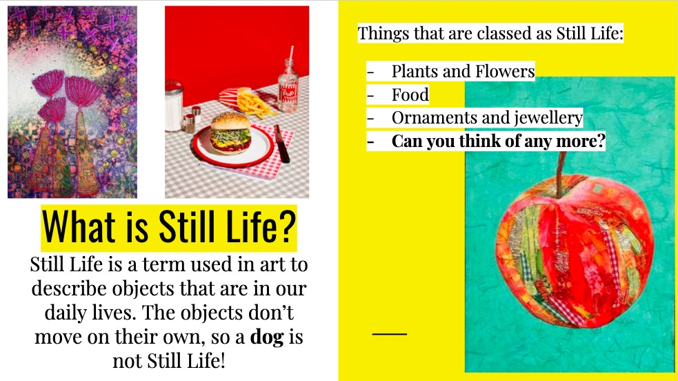 Still Life Art Lesson Resources Home Learning