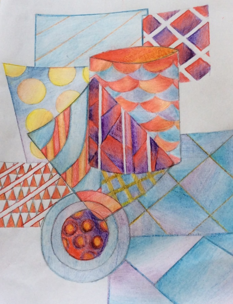 KS3 art cubism home learning project