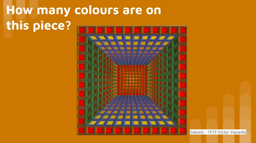 Op Art KS3 lesson home learning project complementary colour scheme