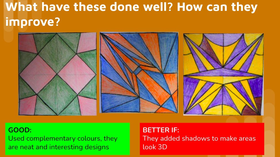 Op Art KS3 lesson home learning project repeat patterns