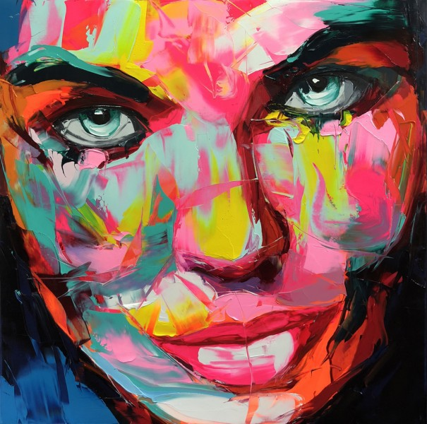 Francoise Nielly Soléne portrait painting art lesson