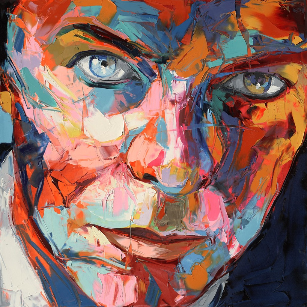 David Bowie painting Francoise Nielly artist research