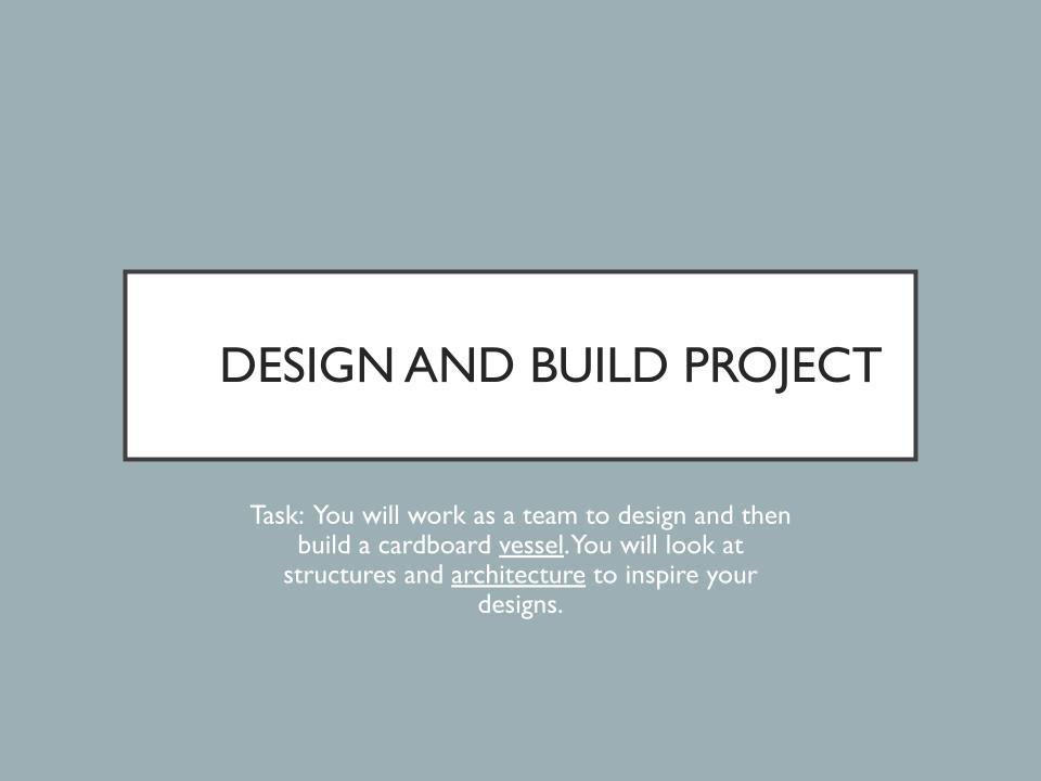 Simple 3D art project brief - KS3 scheme of work