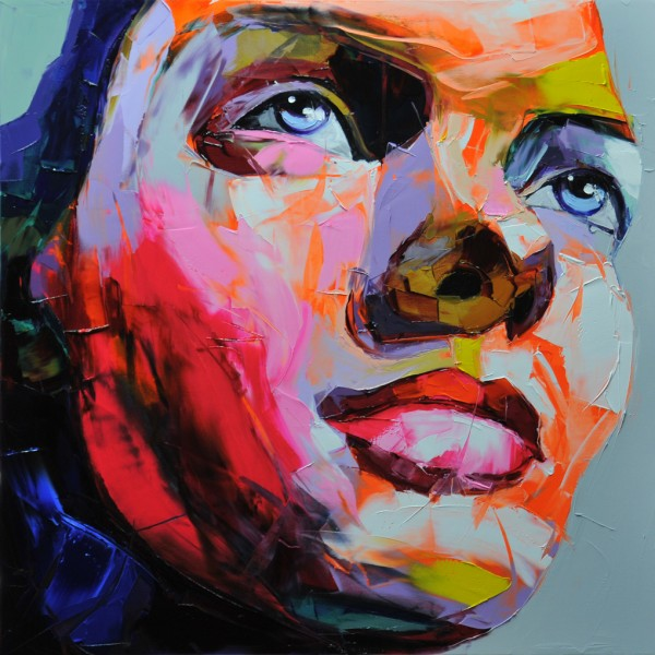 Francoise Nielly painting 'Untitled 648' palette knife technique