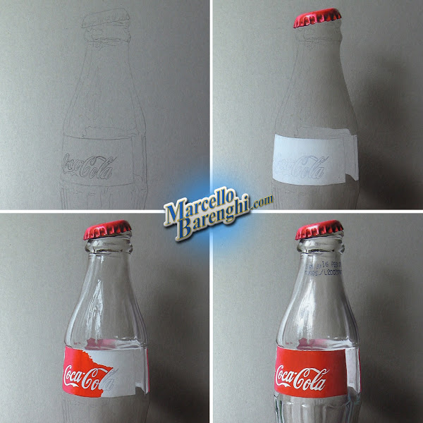 Marcello Barenghi step by step drawing cola bottle - artist research