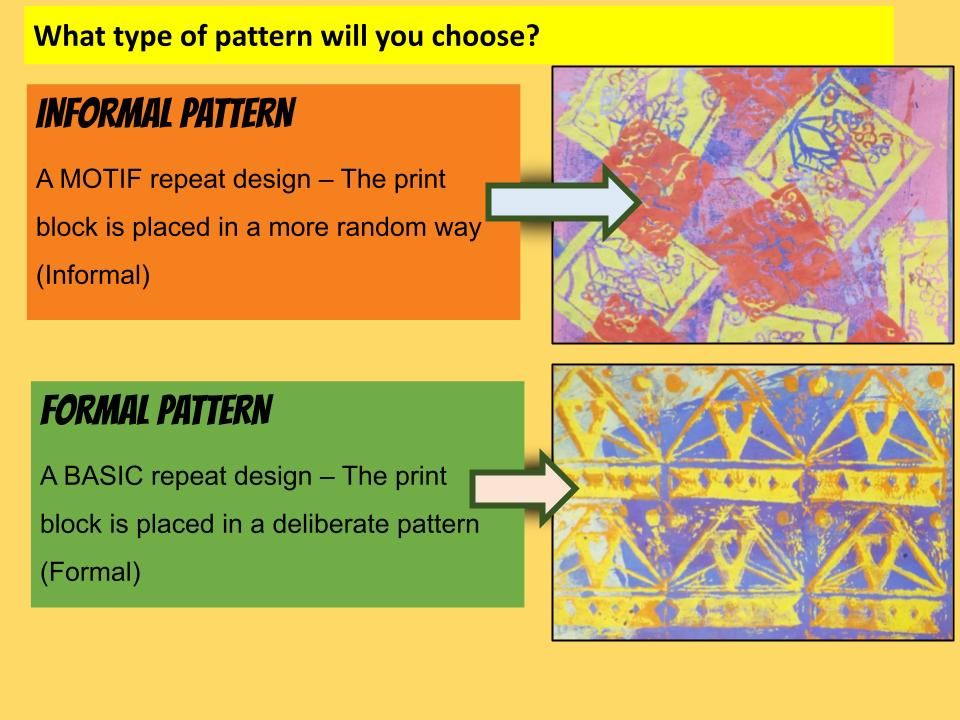 Poly printing technique pattern design lessons