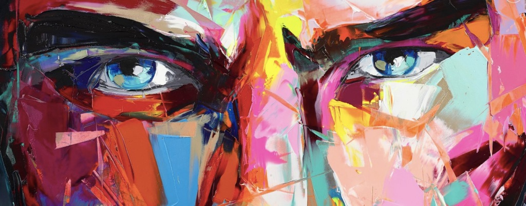 Francoise Nielly closeup Untitled 938 painting close up textures colours