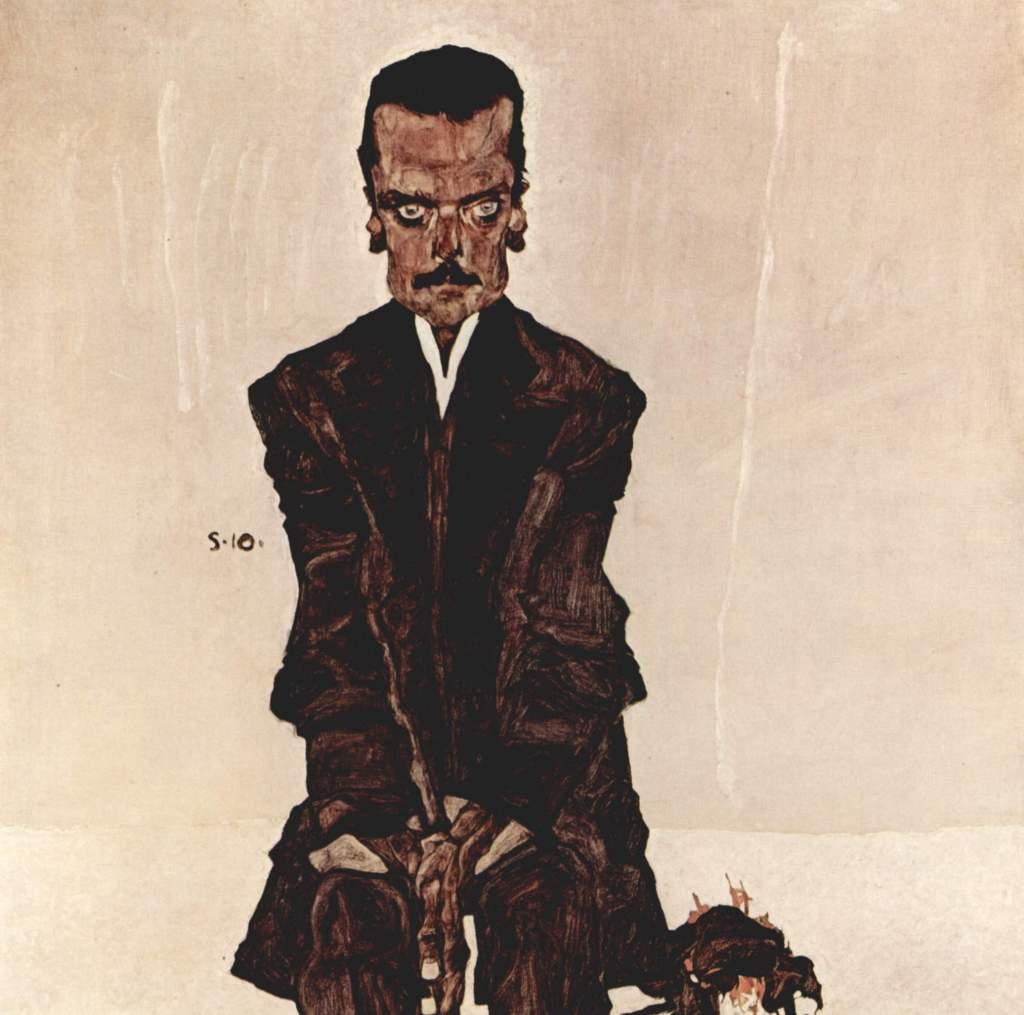 Egon Schiele art lesson - Portrait Eduard Kosmack, 1910