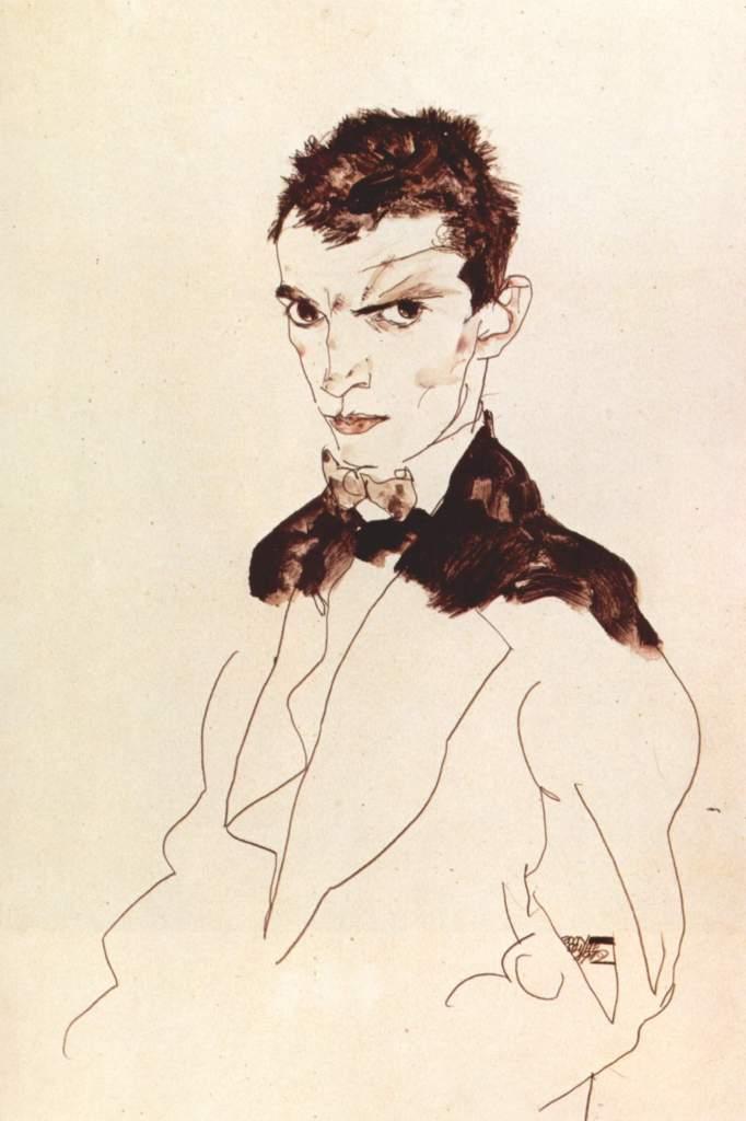 Egon Schiele information - Selbstportät, 1912