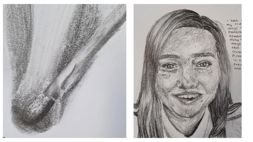 GCSE Art Grade 9 drawing examples