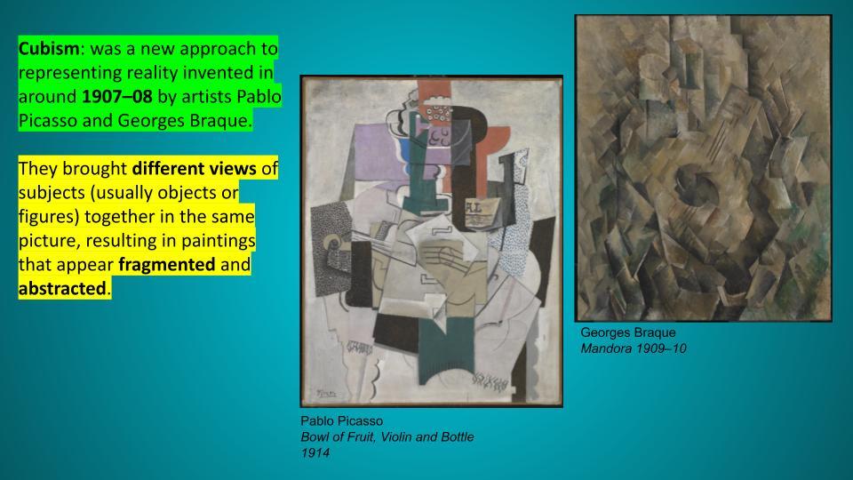 Cubism oil pastel art project