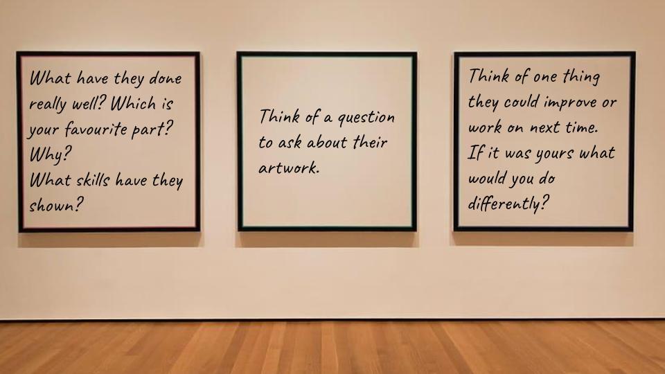 Art feedback ideas - gallery wall