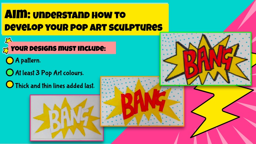 3D pop art ideas - lettering and text
